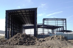 steel structure at Global Ethanol